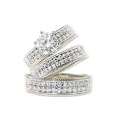 Wedding Rings Sets by Wedding Rings Sets For Him And Her K White Gold Trio Three Piece