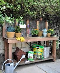 cool diy garden potting table ideas