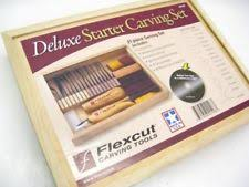Best Wood Carving Starter Kit by Flexcut Starter Carving Set With Free Relief Carving Dvd Ebay