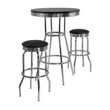modern bar table sets amazon com winsome summit pub table and 2 swivel stool set 3