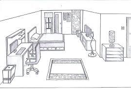 draw a room 3d bedroom drawing drawn bedroom sketch plan 9 3d room design