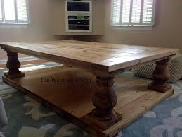 Balustrade Coffee Table 60x40x19 Brown Salvage Wood Finish Balustrade Coffee
