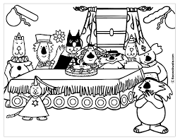 birthday coloring pictures
