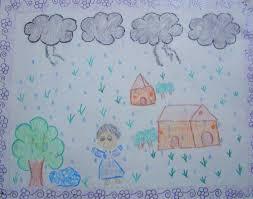 five best drawings of rain by children of taiyyebiyah