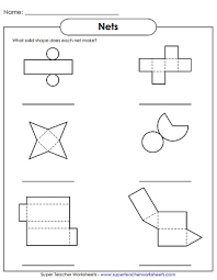 solid shapes worksheets
