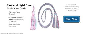 graduation cords for sale pink and light blue graduation cords from honors graduation