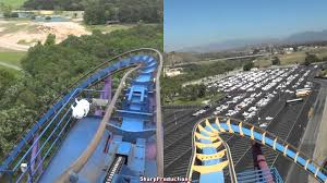 Six Flags Magic Mountain Directions Bizarro At Great Adventure Vs Scream At Magic Mountain Youtube