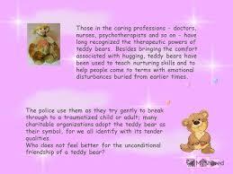 feel better bears презентация на тему contents introduction teddy beginnings