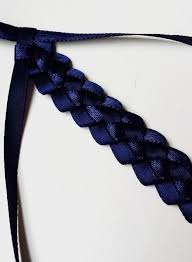 ribbon headband diy braided ribbon headband