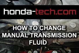 how to change manual transmission fluid in honda civic youtube