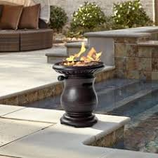 Pleasant Hearth Fire Pit - garden treasures 34 in w brushed bronze steel wood burning fire