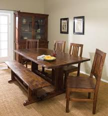 Dining Table Without Chairs Brown Dining Table With Benches Home Interiors