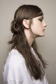long hair style showing ears spring summer 2018 hair and makeup trends