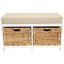 Storage Seat Bench Fabric Bedroom Storage Benches Ebay