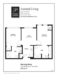 Two Bed Two Bath Floor Plans Apartment Home Features Parc At Traditions