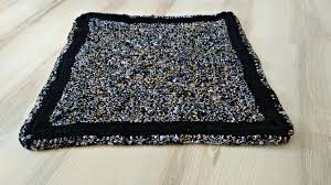 Crochet Doormat Black Rug Rug Dog Cat Bed Crochet Rug Area Rug Braided Rug Rainbow