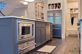 microwave in island in kitchen kitchen island warming drawer contemporary kitchen