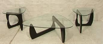 3 pcs noguchi style table set 2 end tables u0026 1 c