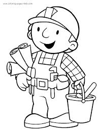 bob builder color cartoon color pages printable
