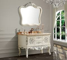 Classic Bathroom Furniture Fashion Antique Bathroom Cabinet With Mirror And Basin Counter Top