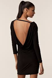 backless dress black backless dress honor gold sleeved milly