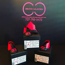 jordan jumpman inspired baby shoes and box invitation creative