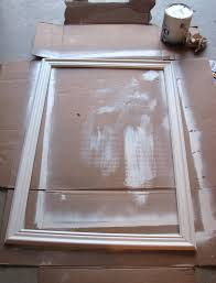 frame mirror with crown molding painted mirror frame using crown