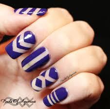 purple negative space nail art for geometric naillinkup