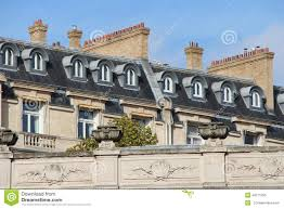 Dormer Building Dormer Windows And Chimneys Were Installed On The Roofs Of