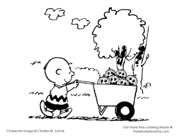 charlie brown and snoopy christmas coloring page free pages