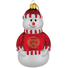 harvard veritas snowman ornament