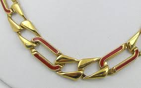 red chain link necklace images Monet red enameled gold chain necklace garden party collection jpg