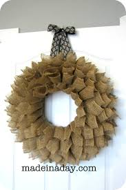 burlap wreath made in a day