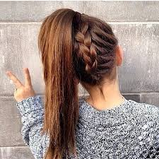 hair braided into pony tail chic braid into ponytail styles that will spice up your look