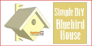 simple bluebird house plans construct101