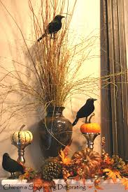 chic on a shoestring decorating halloween mantel is for the