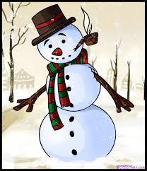 draw snowman step step christmas stuff seasonal