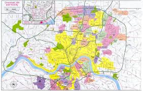 Ohio City Map Maps Of Dallas Cincinnati Map