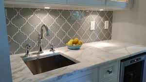 interior beveled tile backsplash arabesque mosaic tile