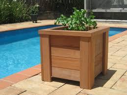 fashionable wooden planter boxes planter designs ideas