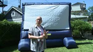 inflatable outdoor movie screen is awesome youtube