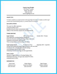Objective For Legal Assistant Resume Writing Your Assistant Resume Carefully