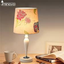 aliexpress com buy iminovo modern table lamp resin light linen
