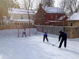 backyard hockey rinks range from simple to elaborate reading