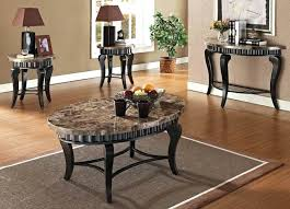 Marble Living Room Tables Marble Coffee Table Set Brown Marble Top Coffee End Table Set Set