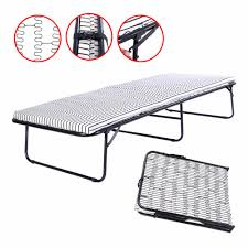 Single Folding Guest Bed Folding Metal Guest Bed Steel Frame Mattress Cot Sleep