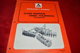 allis chalmers 2100 series disc harrow operator u0027s manual wgoh