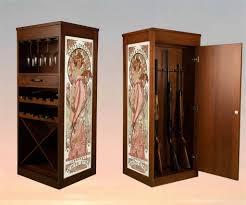 between the studs gun cabinet in wall shotgun cabinet gun safe mirror between studs diy hidden