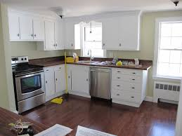 one wall kitchen designs with an island kitchen style white cabinets hardwood floors single wall lovable