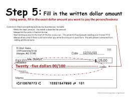 twenty five dollars how to write a check an overview